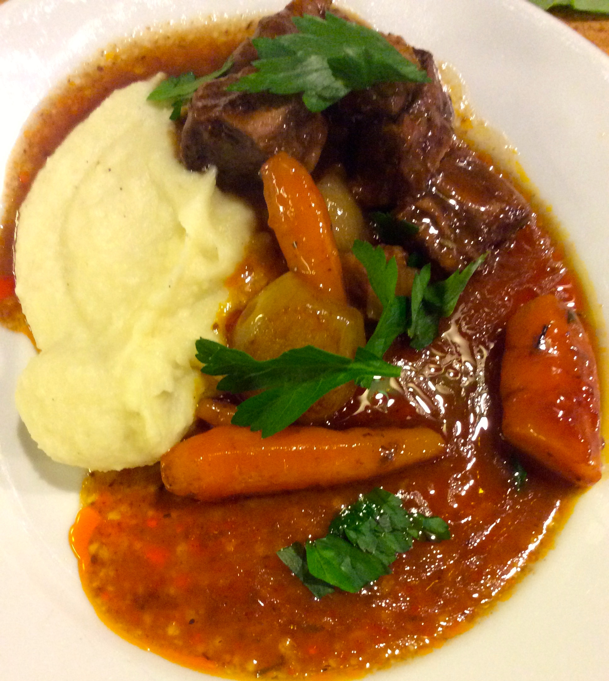 Easy Beef Stew with Potato/Parsnip and Horseradish mash