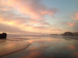 Sunset at Seaside Beach
