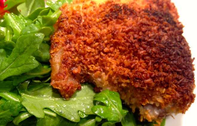 coconut crusted chicken