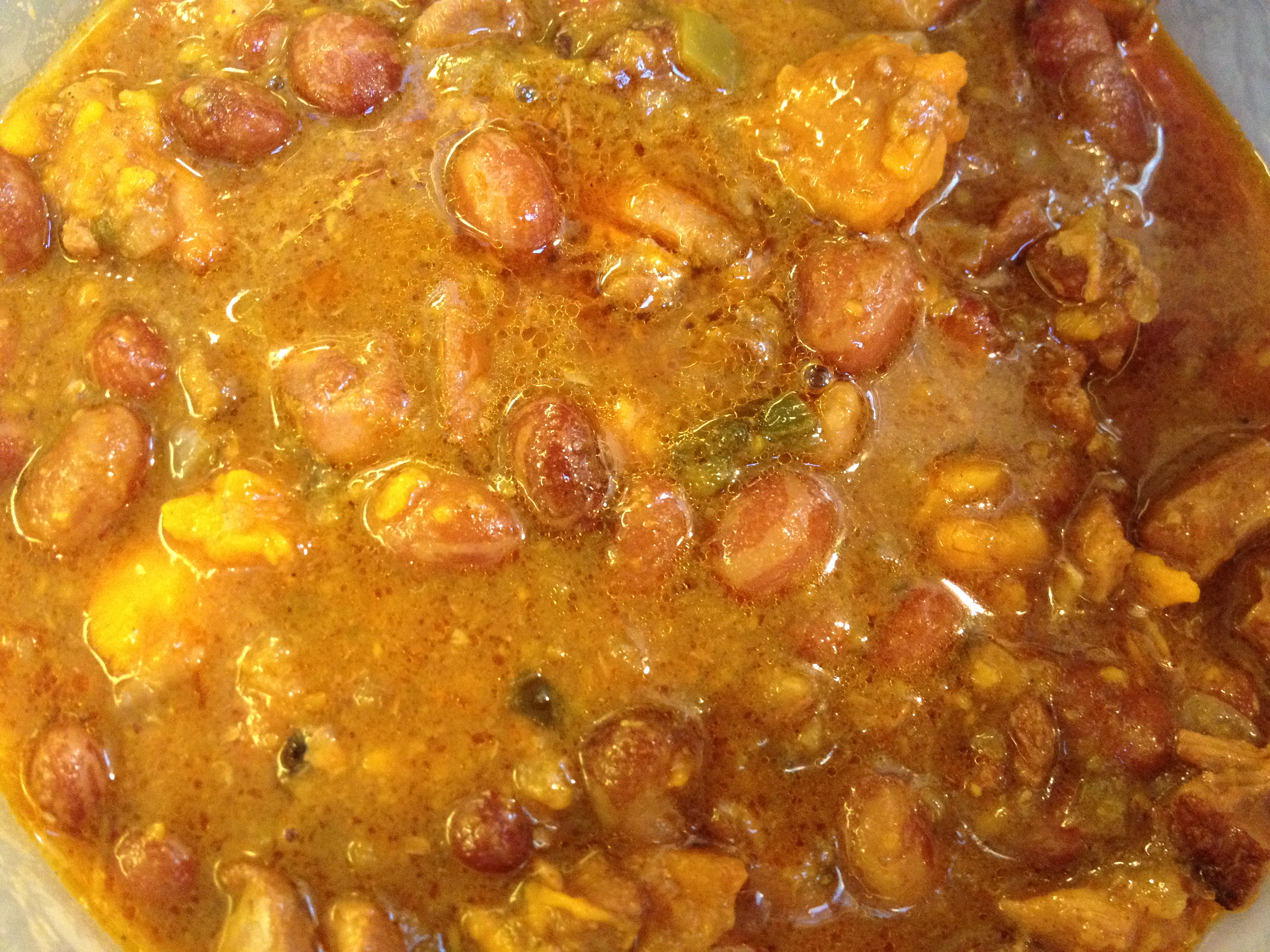 January in the kitchen – Chicken Chili with Beans and ...