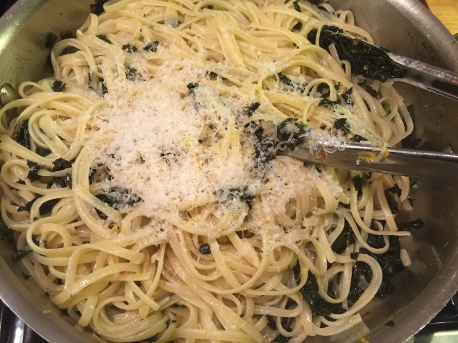 Pasta with Kale and Meyer Lemon Confit