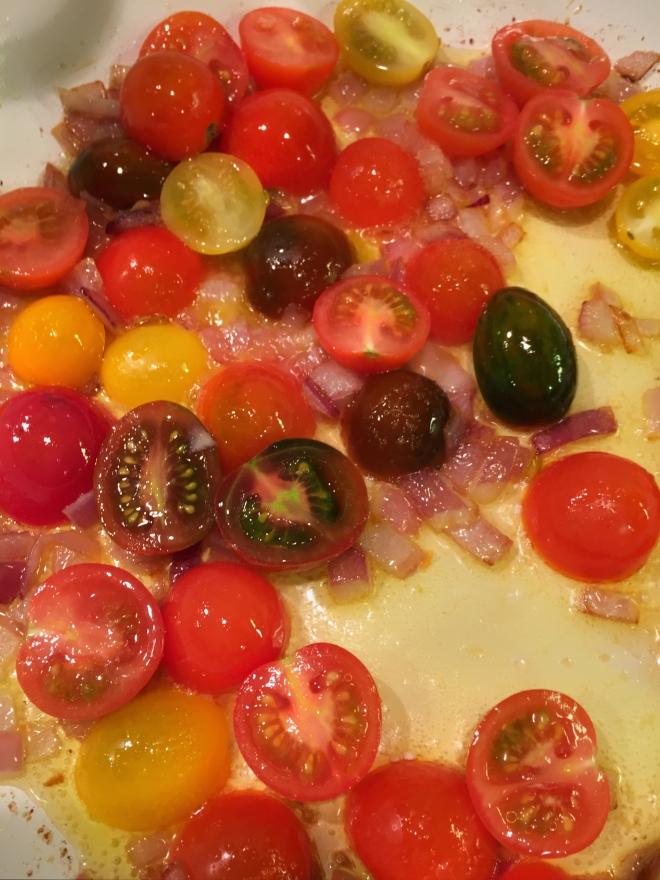 sauteed cherry tomatoes