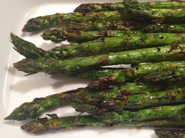 April in the Kitchen – Grilled Asparagus with Pickled Asparagus and Prosciutto