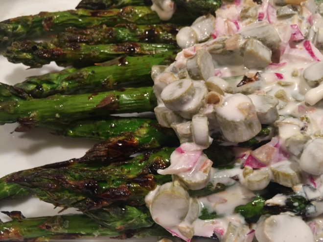 Grilled Asparagus with Pickled Asparagus Sauce