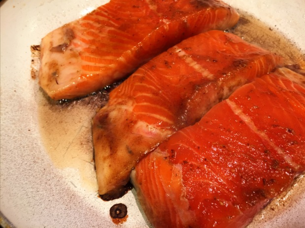 April in the Kitchen – Teriyaki Salmon with Spring Vegetables