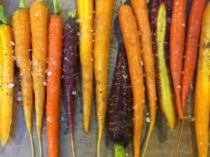 Carrots ready for roasting