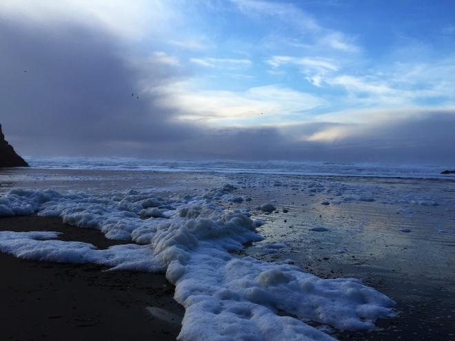 Seaside Beach sea foam