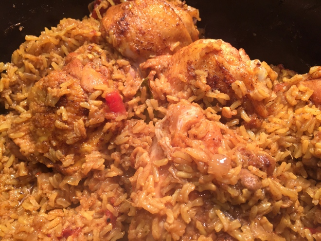 Turmeric Chicken and Brown Jasmine Rice