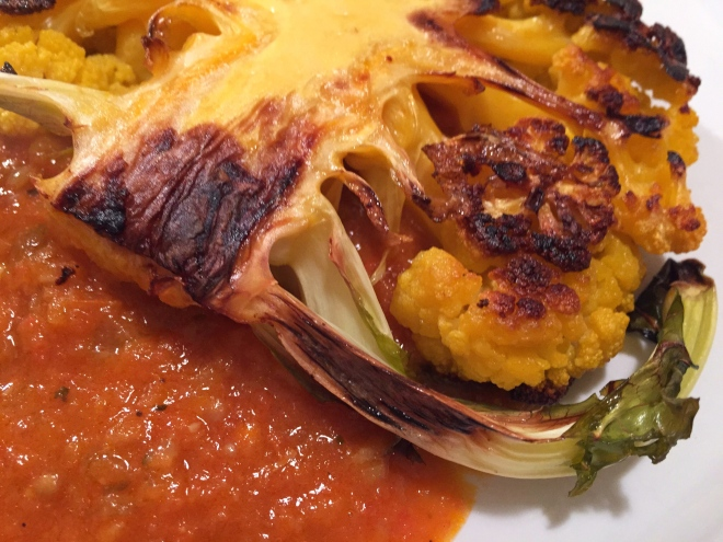 Roasted Cauliflower Steaks with Tomato-Coconut Curry