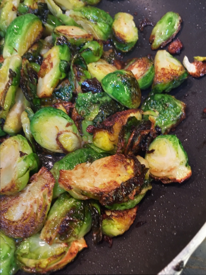 Crispy fired Brussels sprouts