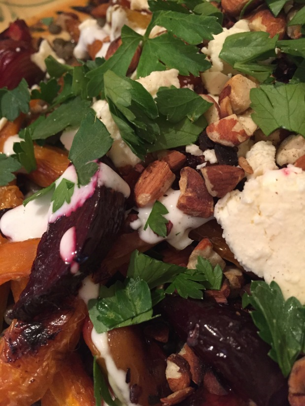 June – Roasted Carrots and Beets with Curried Lentils
